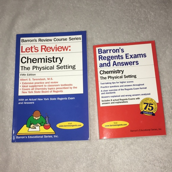 Chemistry Barron's Review books